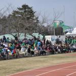 大観衆で埋まる南郷競技場
